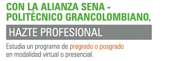 Convenio Politecnico Grancolombiano y el SENA